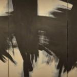 Kenneth Kemble, Sin título, óleo sobre tela, 220 x 495 cm (tríptico), 1960. Colección particular.