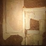 Marta Minujín, Sin título, arena, laca de piroxilina, tiza y cola de carpintero sobre chapadur, 100.5 x 100 cm, 1960. Colección particular.