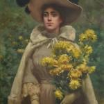 Reinaldo Giudici - Dalias amarillas,1880. Colección privada.