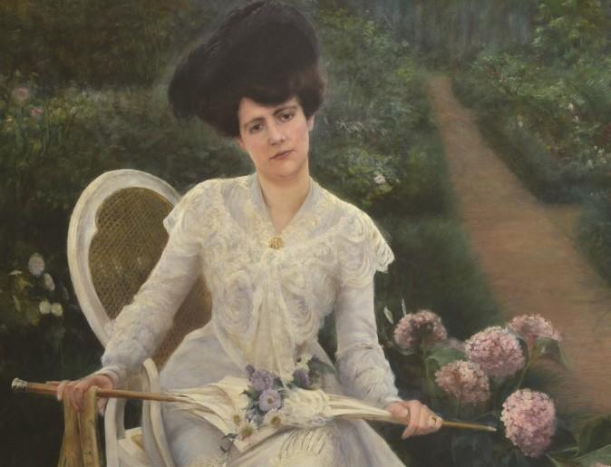 Dama con sombrilla o Retrato de su esposa, 1890