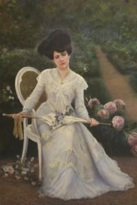 """""""Dama con sombrilla"""" o """"Retrato de su esposa"""" , 1890"""