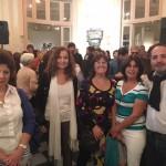 De derecha a izquierda Alejandro Vidal, Carolina Ceverizzo, Clarissa Cassiau, en el extremo Marcela Vidal