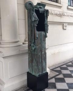 Aldo Paparella, Monumento inútil, copia nº 1/7, 1971-1976/2017 bonce, 220 x 43 x33 cm