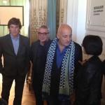 Fernando Echagüe, director coordinador del Museo, el Intendente Julio Zamora, Aníbal Jozami y Verónoca Tejeiro, Curadora del Museo